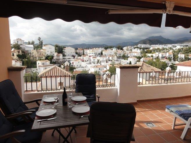 TSR0247 Burriana beach Aljamar penthouse rental Nerja